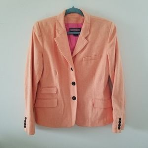 Vineyard Vines 10 Blazer Jacket Orange Herringbone